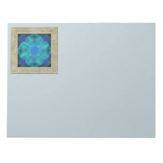 Blue Fractal Flower Notepad