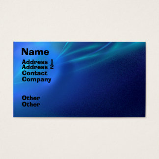 Blue Fractal Mist Business Card