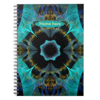 blue fractal notebook