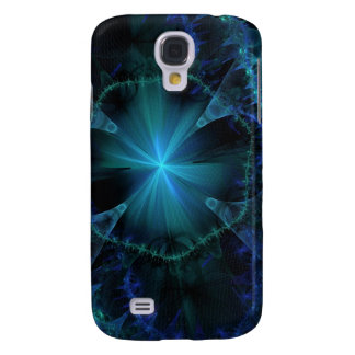 Blue Fractal Pattern Galaxy S4 Case