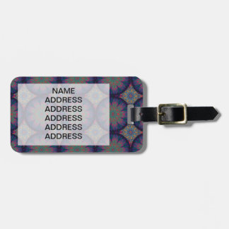 Blue Fractal Pattern Luggage Tag