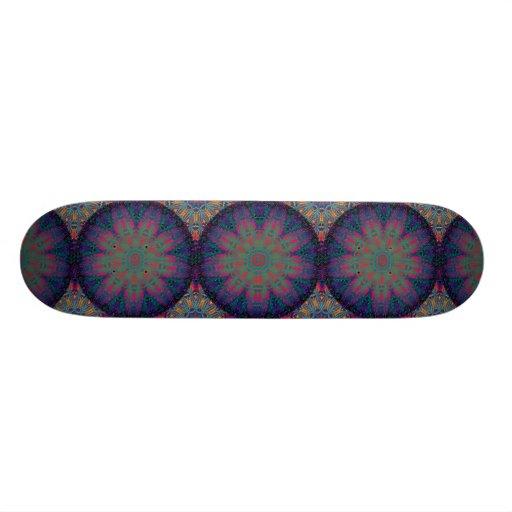 Blue Fractal Pattern Skate Deck