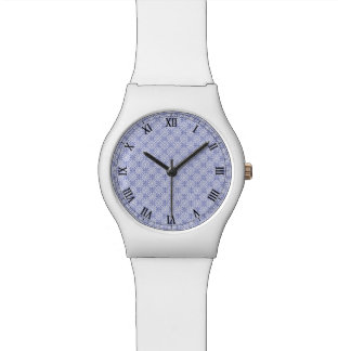 Blue Fractal Pattern Watch