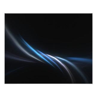 Blue Fractal Plasma Background Photo Art