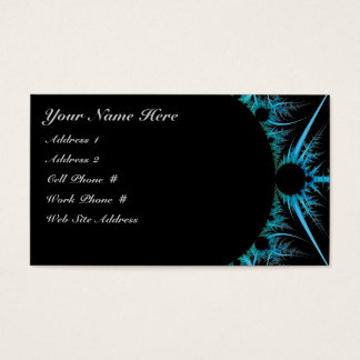 Blue Fractal Profile Card