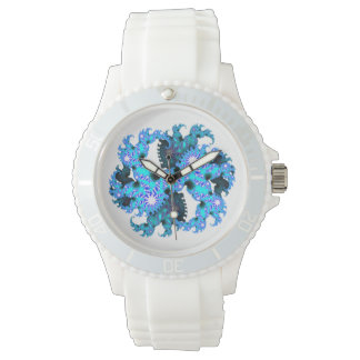 Blue fractal watch