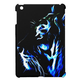 Blue Fractalius Tiger Cover For The iPad Mini