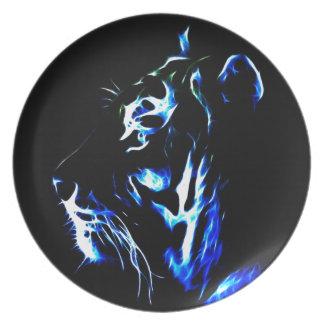 Blue Fractalius Tiger Plate