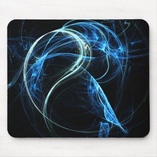 Blue Fractical mouse pad