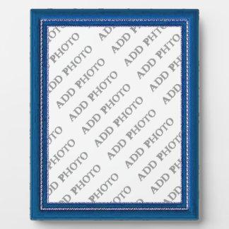 Blue Frame Add Photo Plaque
