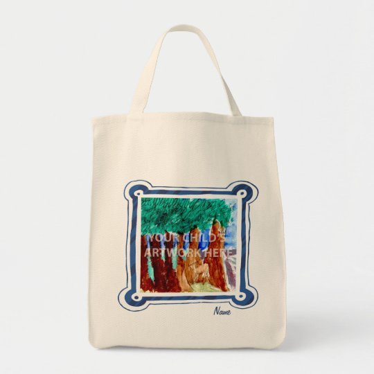 Blue Frame Grocery Tote  $20.95