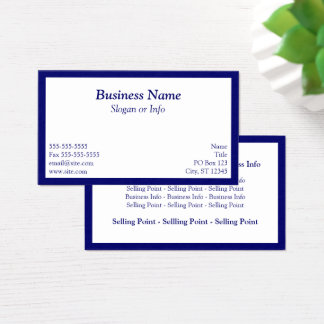 Blue Framed Business Card