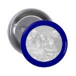 Blue Framed Round Photo Button