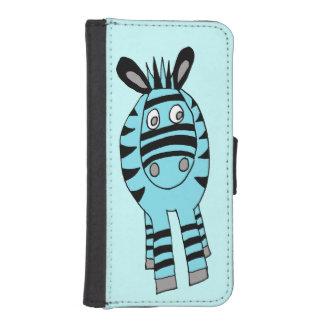 blue freaky zebra phone wallet case
