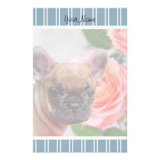 Blue French Bulldog puppy stationary Customized Stationery