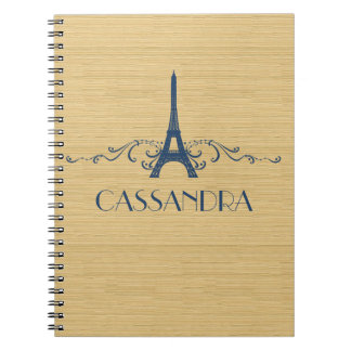 Blue French Flourish Notebook