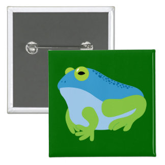 Blue Frog 15 Cm Square Badge