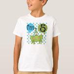 Blue Frog 5th Birthday T-shirt