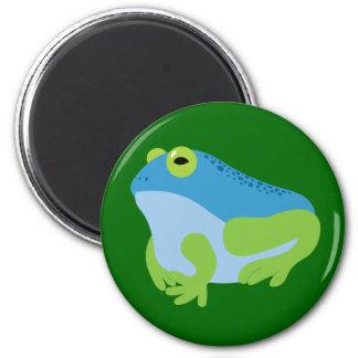 Blue Frog 6 Cm Round Magnet