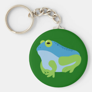 Blue Frog Basic Round Button Key Ring