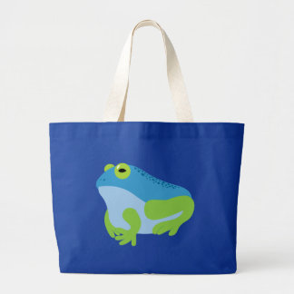 Blue Frog Canvas Bag
