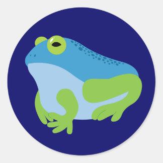 Blue Frog Classic Round Sticker