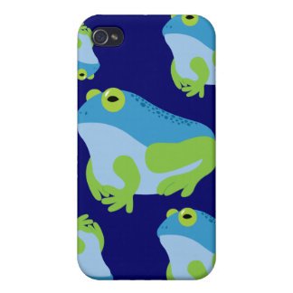 Blue Frog iPhone 4 Cases