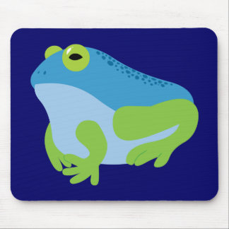 Blue Frog Mouse Pads