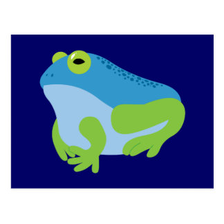 Blue Frog Post Card