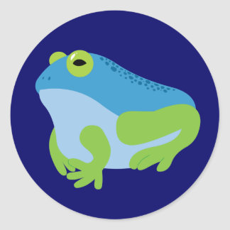 Blue Frog Round Sticker