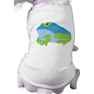 Blue Frog Sleeveless Dog Shirt