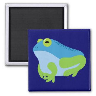 Blue Frog Square Magnet