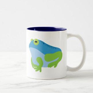 Blue Frog Two-Tone Mug