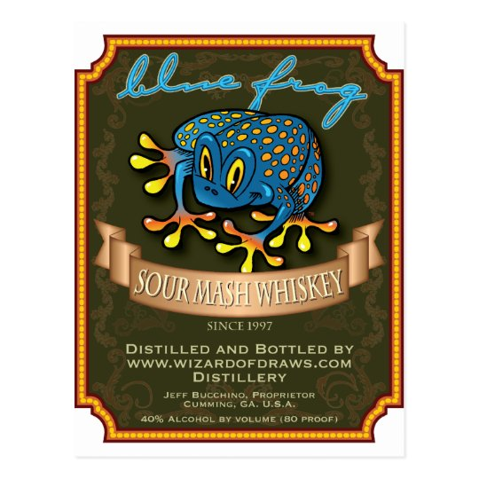 Blue Frog Whiskey Postcard