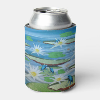 Blue Frogs On Lily Pads, Can Cooler