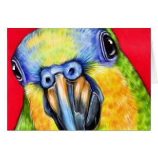 Blue Fronted Amazon Parrot Greeting Card