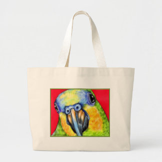 Blue Fronted Amazon Parrot Jumbo Tote Bag