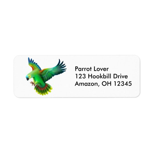 Blue Fronted Amazon Parrot Label