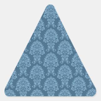 Blue Frost Damask Pattern Stickers