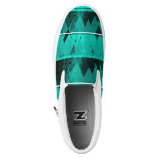 Blue Frost Glacier Snow Mountains ZIPZ Slip-On Shoes