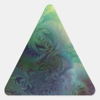 Blue frost triangle sticker