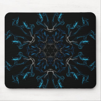 Blue Frosted Flames Mousepad