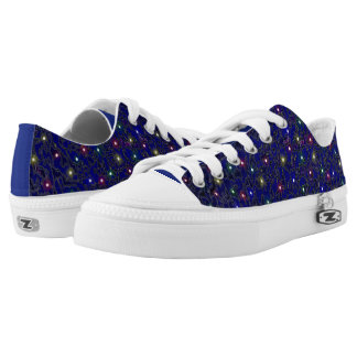 Blue Frosted Gallaxy Faux light Design Low Tops