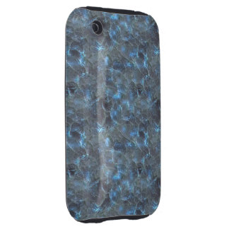 Blue Frosted Glass Dark iPhone 3 Tough Case