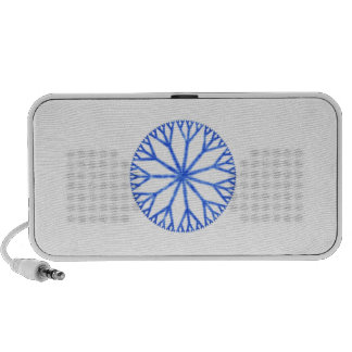 Blue Frosty Snowflake Portable Speakers