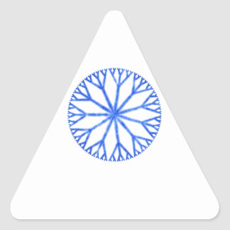 Blue Frosty Snowflake Sticker