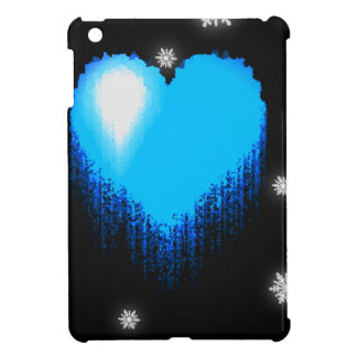 Blue Frozen Heart iPad Mini Cover