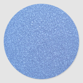 Blue Frozen Surface Ice Crystal Background Round Sticker