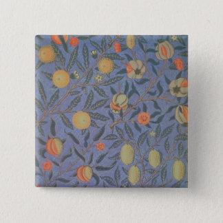 Blue Fruit' or 'Pomegranate' 15 Cm Square Badge
