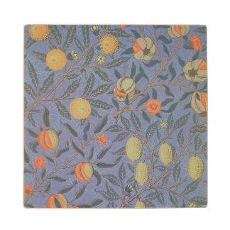 Blue Fruit' or 'Pomegranate' Wood Coaster